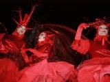 Echassiers rouges pour la traditionnelle Fête des Lumières (69)