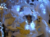 Déambulation nocturne d'échassiers lumineux à Angers (49)