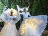 Echassiers blancs et danseuse dans une bulle au château de Bouffémont (95)