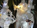 Accueil électro-baroque avec des échassiers en soirée à Lyon (69)