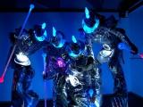 Echassiers futuristes en animation de soirée d'entreprise à la Cité des Sciences (75)